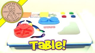 Fisher-price Activity Table Play Center Baby Toy With 2 Playing Surfaces #71138, 1997