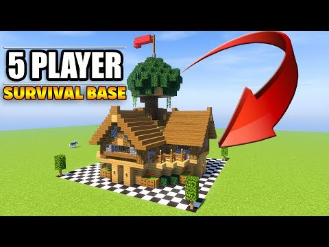 5 Player Minecraft Survival Base With Everything You Need To Survive!