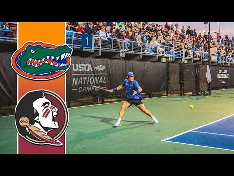 Florida (#4) vs Florida State (#22) Mens Singles Highlights