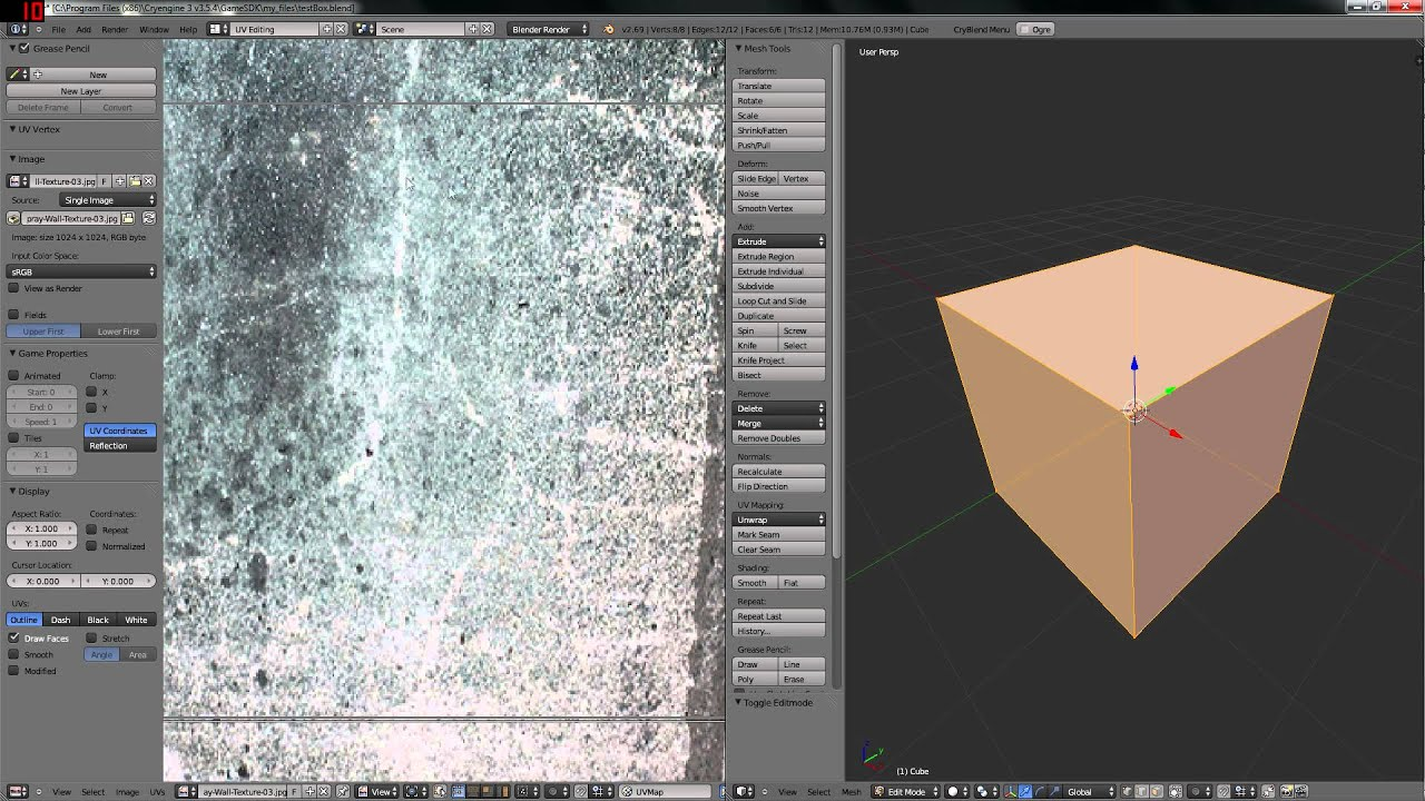 Export Blender models to CryEngine 3 5 4 (CryBlend  dds fix)