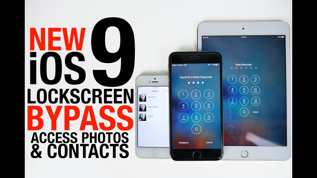 NEW iOS 9 Lockscreen Bypass - Access Photos & Contacts Without Passcode