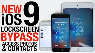 NEW iOS 9 Lockscreen Bypass - Access Photos & Contacts Without Passcode(How To Bypass iOS 9 Lockscreen & Access Photos, Contact Info in 30 Seconds. Works on iOS 9.1, iPhone, iPad & iPod. Crazy Passcode Bypass. Source: ..., 2015-09-20T21:44:33.000Z)