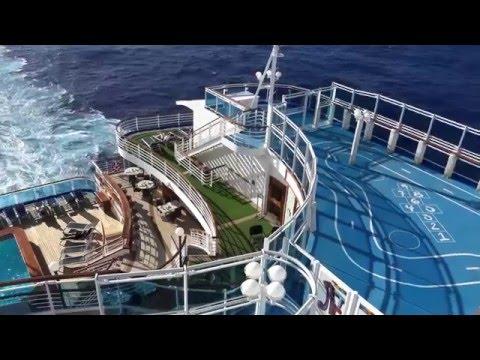 EMERALD PRINCESS - ELABORATE SHIP TOUR  INCL. BUFFET AND STATEROOMS