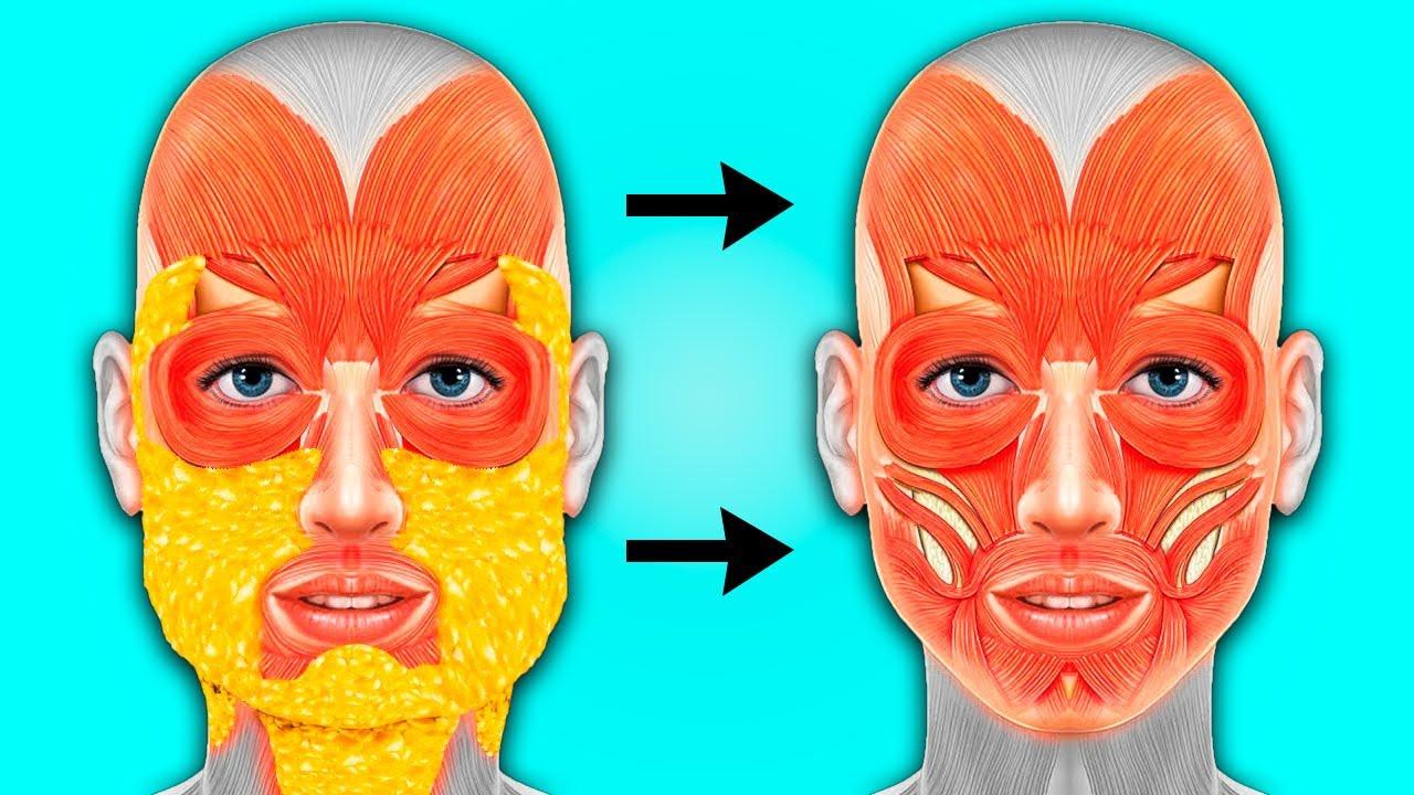 Как убрать щёки и жир с лица за 5 минут?