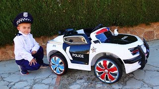 Funny Dima play with Nerf Unboxing And Assembling The POWER WHEEL Ride On Police Car