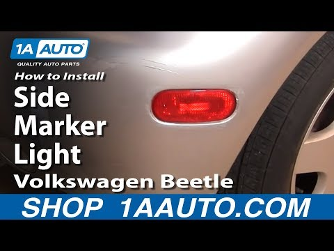 How to Replace Side Marker Light 98-05 Volkswagen Beetle