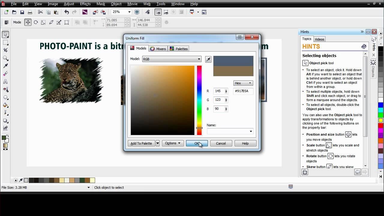 coreldraw graphics suite x6 photo paint basics youtube. Black Bedroom Furniture Sets. Home Design Ideas