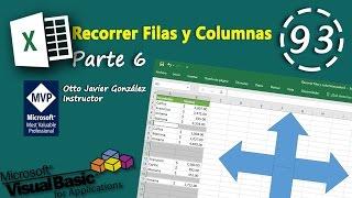 Recorrer Filas Y Columnas Parte 6 Vba Excel 2016 93 Youtube