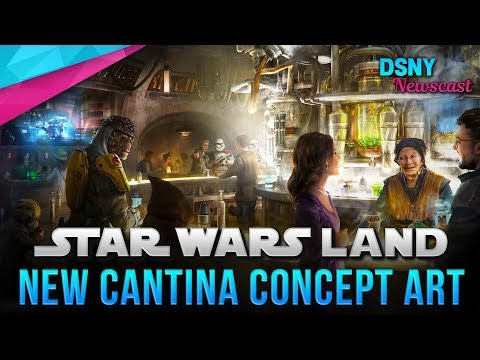 NEW Star Wars Land CANTINA Concept Art Released For Disneyland & WDW - Disney News - 8/30/18