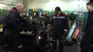 Снятие ступицы маховика двигателя ЯМЗ 240.avi