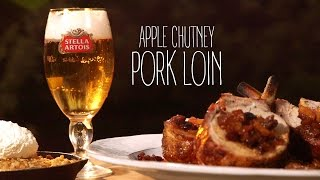 Apple Chutney Pork Loin With Skillet Apple Crumble