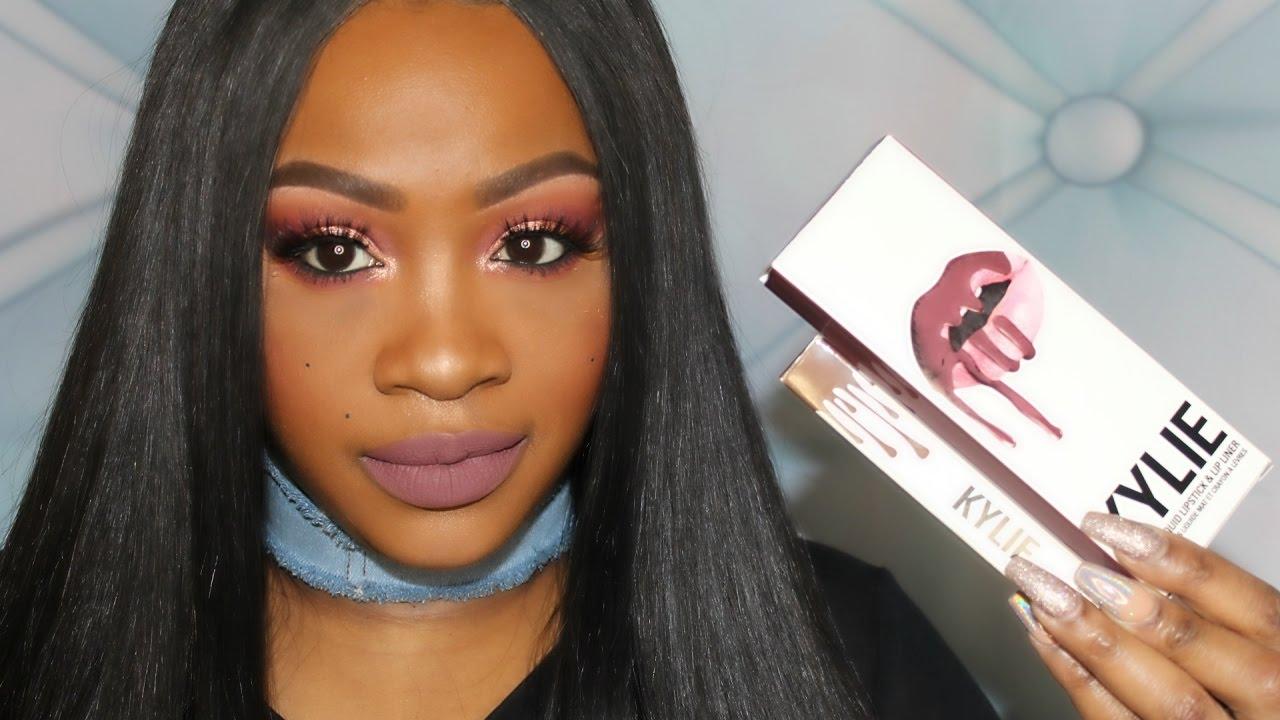 kylie love bite lip kit vs true brown k single lip swatches review