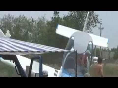 На мотокроссе в Волжском разбился самолет. Видео