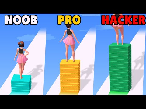 NOOB vs PRO vs HACKER in Strip Roll |