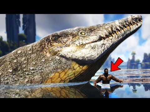 Ark Survival Evolved - NEW GIANT DINOSAUR OWNS THE OCEAN!! GIANT FISH! - Ark Modded Gameplay