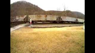 NS 17M with CSX Power in Lashup at Elliston, VA
