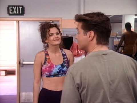 Dina Meyer Working Out On Beverly Hills 90210 4x08 Part 2