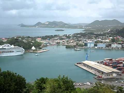 ST. LUCIA, VISTA PANORAMICA DE CAPITAL CASTRIES / PANORAMIC VIEW OF CAPITAL CASTRIES