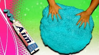 How to make Toothpaste Slime! DIY Giant Size slime without borax and liquid starch