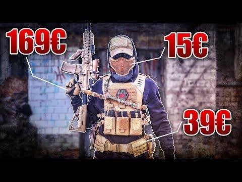 AIRSOFT ANFÄNGER LOADOUT AUSRÜSTUNG 2018 - M4 Pistole Weste Plate Carrier | Fritz Meinecke