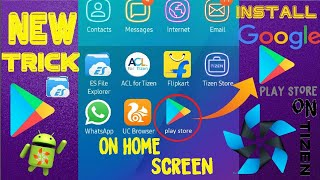 how to run google playstore on tizen home screen