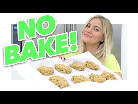 How to make NO BAKE peanut butter cookies! | iJustine