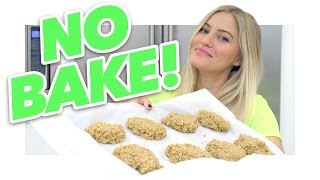 How to make NO BAKE peanut butter cookies!   iJustine