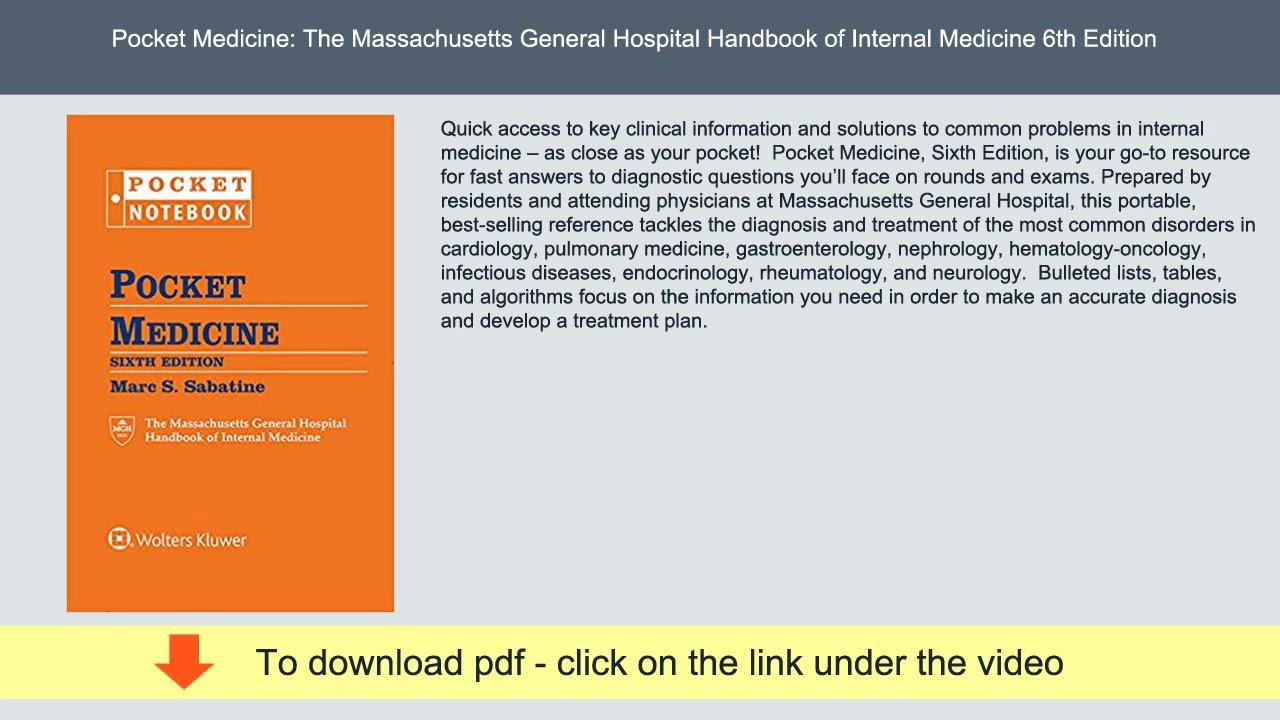 Pocket Medicine: The Massachusetts General Hospital Handbook of Internal Medicine 6th Edition