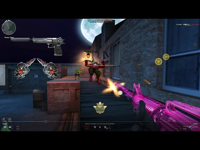 CrossFire M4A1-S-Pink Crystal| Hero Mode X (Zombie v4) by [MS]Aquarius