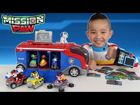 Paw Patrol Toys Mission Cruiser And Mission Pup Pad Unboxing Fun With Ryder Ckn Toys