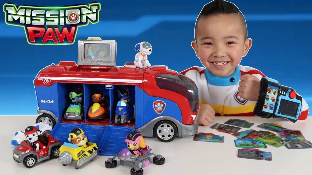 Paw Patrol Toys Mission Cruiser And Mission Pup Pad Unboxing Fun