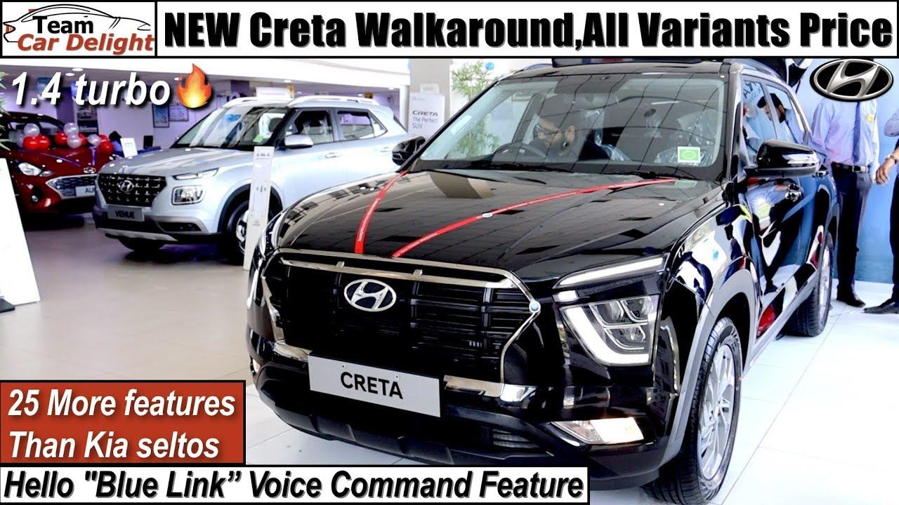 New Creta Sxo Top Model Better Than Seltos Detailed Review On Road Price Creta 2020 Youtube