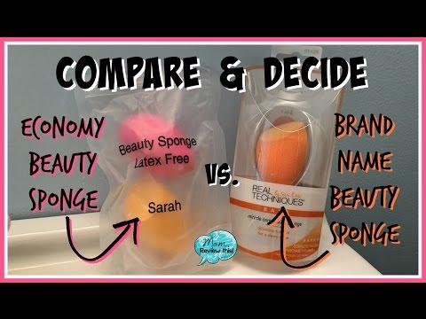Compare Economy vs. Name Brand Beauty/Makeup Sponges!