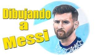 Dibujo de Messi speed drawing