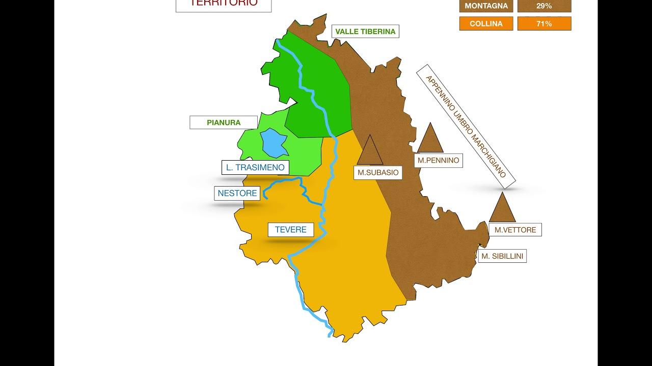 Umbria Cartina Geografica Fisica.Geografia Umbria Youtube
