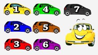 Мультики про машинки. Изучаем цвета и учимся считать. Развивающее видео для детей.(Давайте вместе с машинкой Би Бип раскрасим машинки в разные цвета и сосчитаем до 7. Яркие цвета и красивая..., 2015-03-01T11:44:28.000Z)