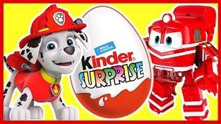 Вспыш. Щенячий Патруль. Роботы-Поезда. Учим цвета. Киндер сюрприз. Kinder Surprise.