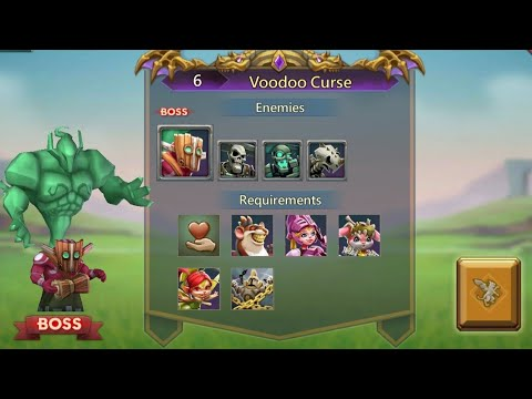 🗡Lords Mobile - Stage 6 - Voodoo Curse + Unlock And Upgrade Masterecook