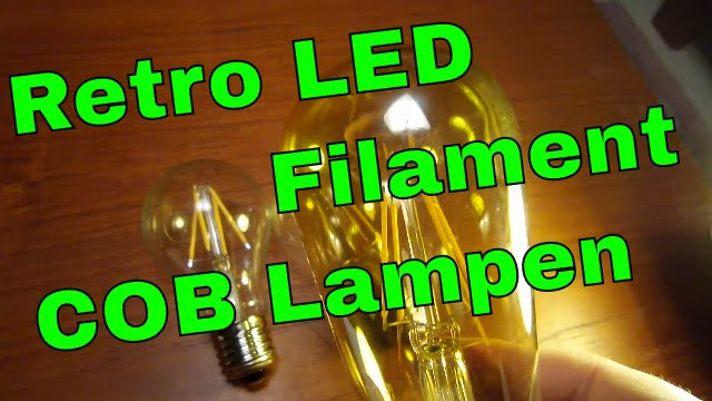 led lampen vergleich neue led lampen in 2016 retro filament cob bulbs youtube. Black Bedroom Furniture Sets. Home Design Ideas
