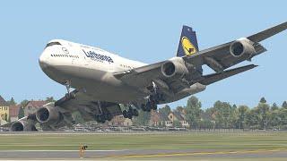 10 Жестких Посадок Огромных Самолетов
