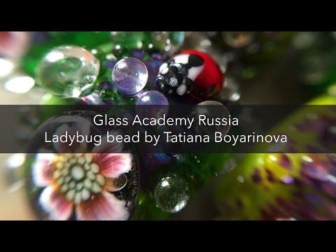 Ladybug bead by Tatiana Boyariniva.  Glass Academy Russia.