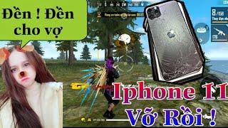[Free Fire] Troll Ngu Giả Vờ làm VỠ Iphone 11 của Cô Ngân và cái kết