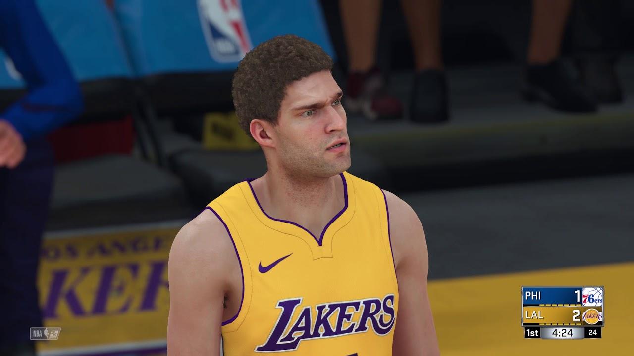413d80c90 NBA 2K18 PS4 2017 2018 Season Philadelphia 76ers vs Los Angeles Lakers