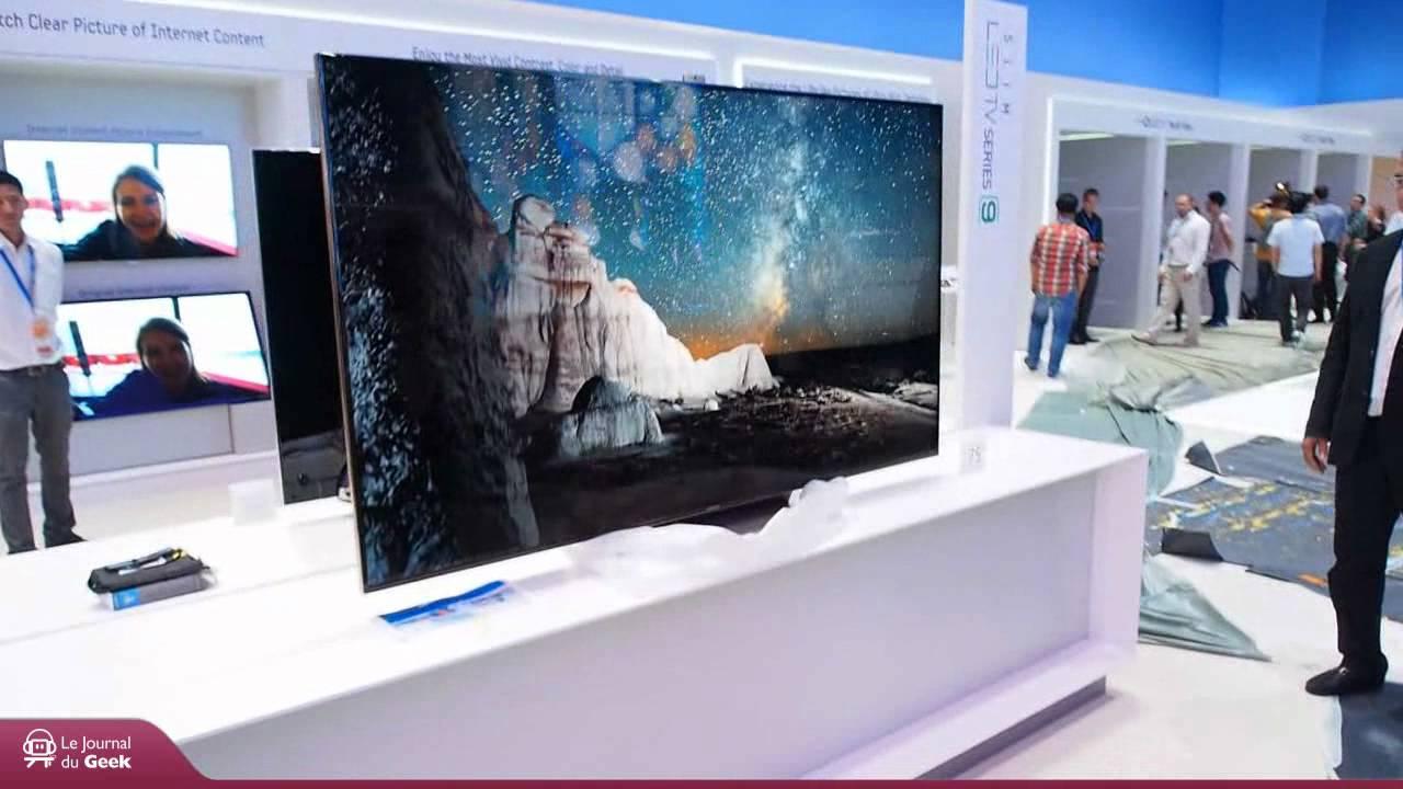 ifa 2012 samsung oled tv 55 et led tv 75 youtube. Black Bedroom Furniture Sets. Home Design Ideas