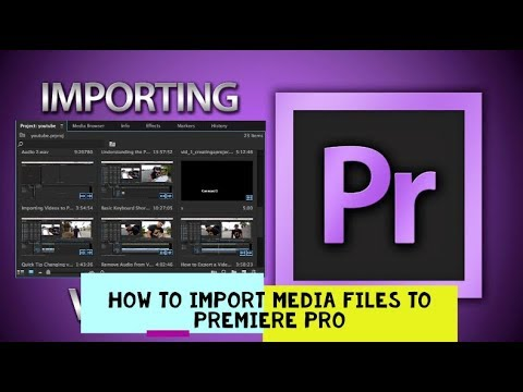 How to Import Videos to Premiere Pro CC