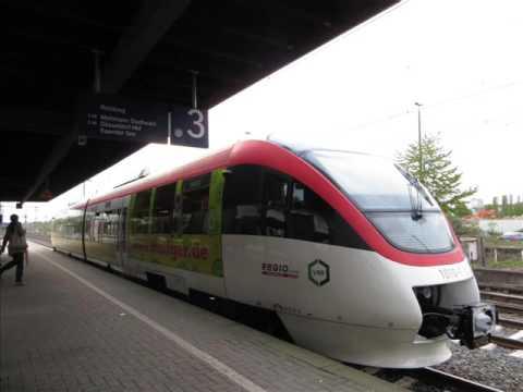 [Sound] Triebzug Bombardier Talent (Wagennr. 1010) der Regiobahn GmbH, Mettmann