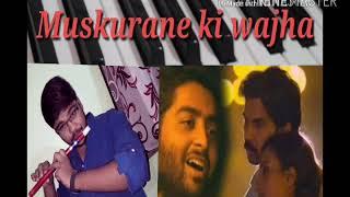 Muskurane ki wjha tum ho on piano ( Flute tone ) | Heart touching song | Abhishek