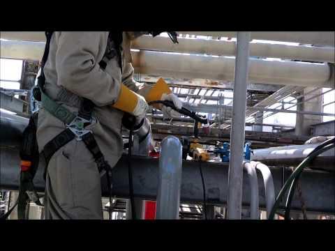 TIG welding in the Pipe rack