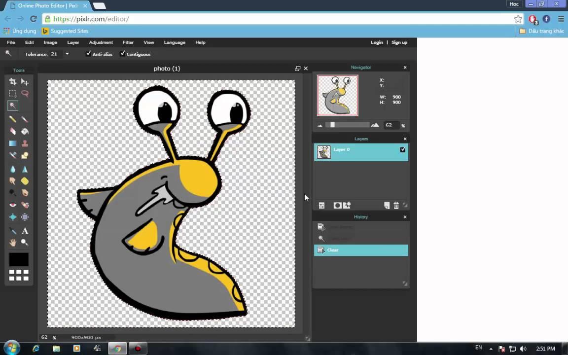 Cách xóa nền cho logo bằng phần mềm online