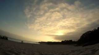 Santa Cruz Cloudy Sunset Time Lapse